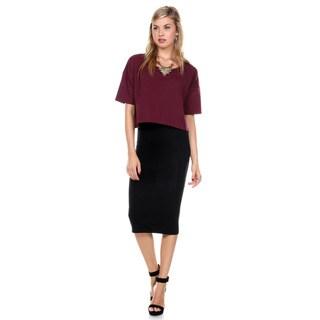 Stanzino Women's Two Tone Midi Dress