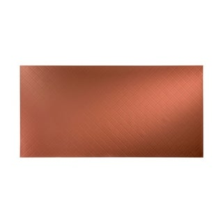 Fasade Quilted Argent Copper Wall Panel (4' x 8')