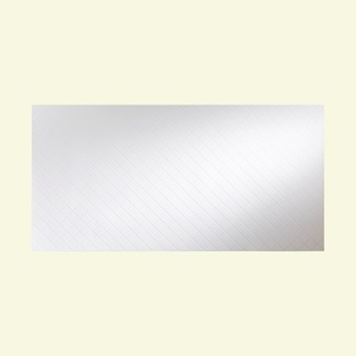 Fasade Quilted Gloss White Wall Panel (4' x 8')