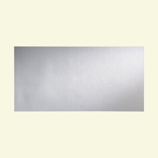 Fasade Hammered Matte White Wall Panel (4' x 8')