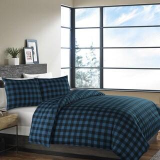 Eddie Bauer Mountain Plaid Dusted Indigo Comforter Set
