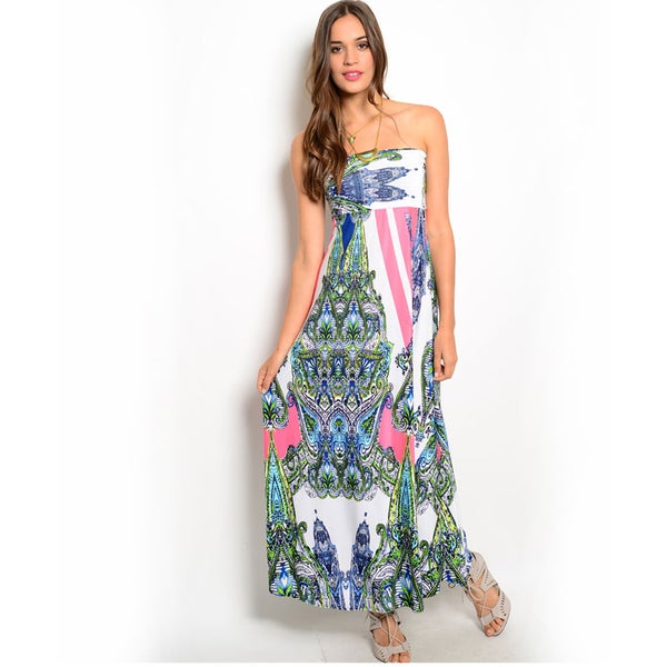 Shop the Trends Women's 2-in-1 Multicolor Print Skirt and Dress