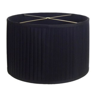 Large 18-inch Black Round Pleated Shade