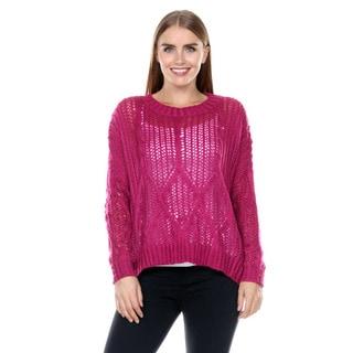 Stanzino Women's Chunky Knit Pink Sweater