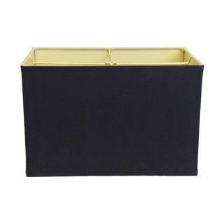 Black Rectangle Hardback Shade