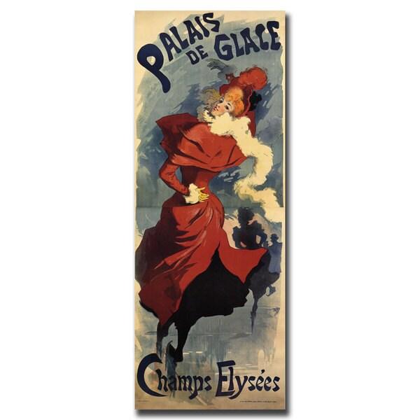 Vintage Art 'Palais de Glace Champs Elysees' 24x47 Canvas Wall Art