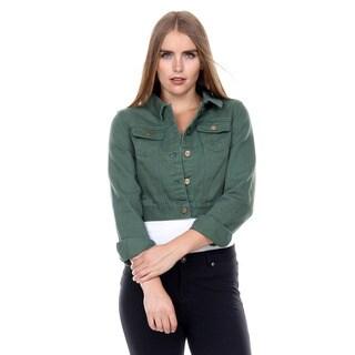 Stanzino Women's Cropped Bolero Denim Jacket