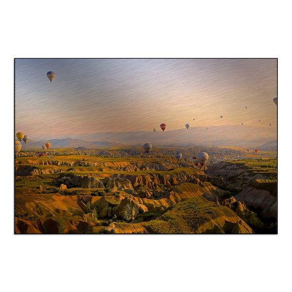 New Era Photography 'Hot Air Ballons in the Morning' Mounted Metal