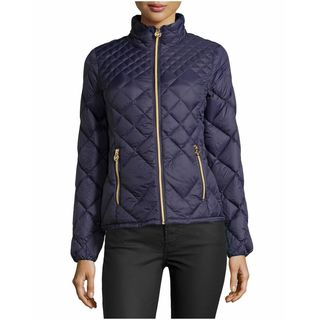 Michael Michael Kors Women's Purple Diamond Puffer Coat