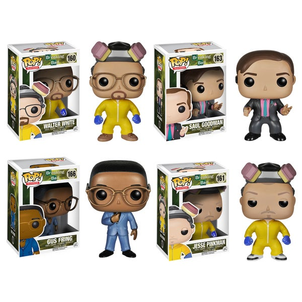 Funko Breaking Bad Pop TV Vinyl Collectors Set with Walter White (Cook)/ Jesse Pinkman (Cook)/ Saul Goodman/ Gustavo Fring
