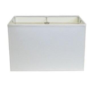 White Rectangle Hardback Lamp Shade