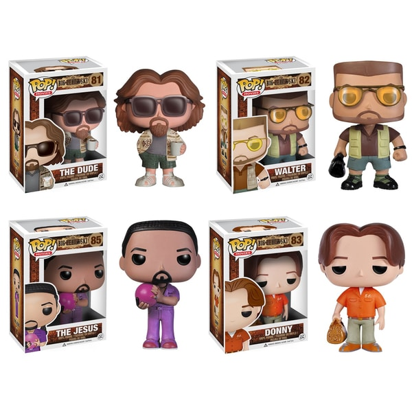 Funko The Big Lebowski Pop Movie Vinyl Collectors Set with The Dude/ Walter/ Donny/ Jesus