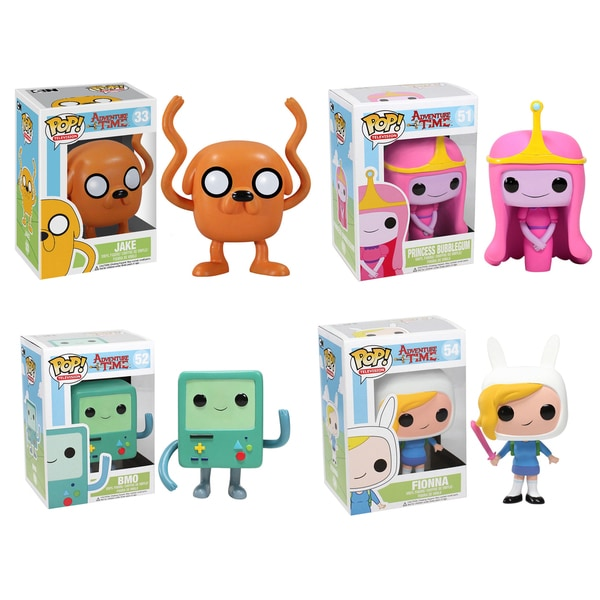 Funko Adventure Time Pop TV Vinyl Collectors Set with Jake/ Princess Bubblegum/ BMO/ Fionna 16190848