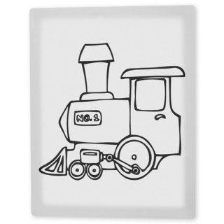 Coloring Art 'Choo Choo Train' 8x10 Coloring Canvas Wall Art