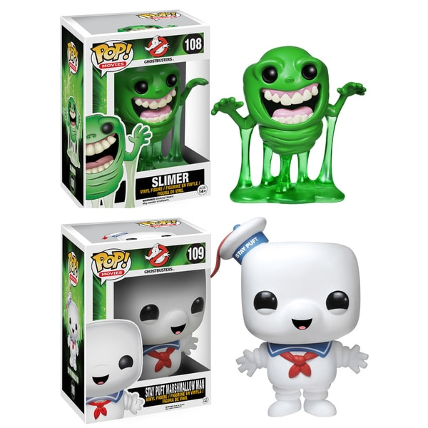 Funko Ghostbusters Pop Movies Vinyl Collectors Set with Slimer and 6-inch Stay Puft Man 16190913
