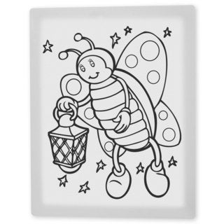 Coloring Art 'Betty the Butterfly' 8x10 Coloring Canvas Wall Art