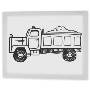 Coloring Art 'Tucker the Truck' 8x10 Coloring Canvas Wall Art