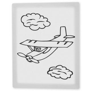 Coloring Art 'Alphie the Airplane' 8x10 Coloring Canvas Wall Art
