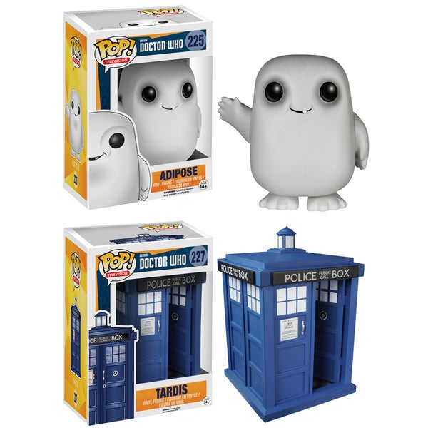 Funko Doctor Who Pop TV Vinyl Collectors Set with Tardis 6-inch and Adipose 16190937