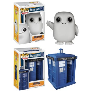 Funko Doctor Who Pop TV Vinyl Collectors Set with Tardis 6-inch and Adipose