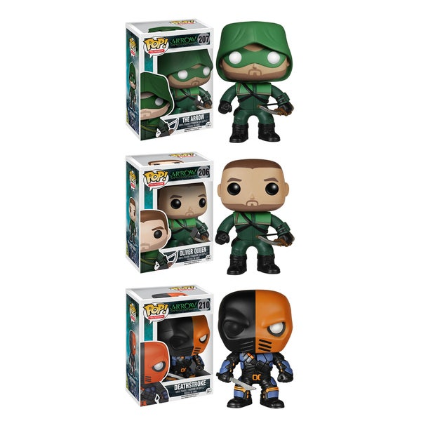 Funko Arrow Pop TV Vinyl Collectors Set with The 'Arrow'/ Oliver Queen and Deathstroke 16190944