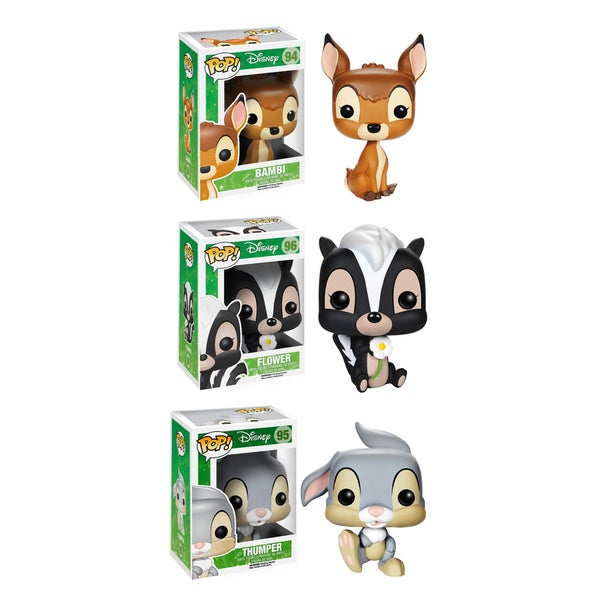 Funko Bambi Movie Pop Disney Vinyl Collectors Set with Bambi/ Flower/ Thumper