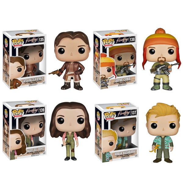 Funko Firefly Pop TV Vinyl Collectors Set with Malcolm Reynolds/ Jayne Cobb/ Kaylee Frye/ Hoban Washburne