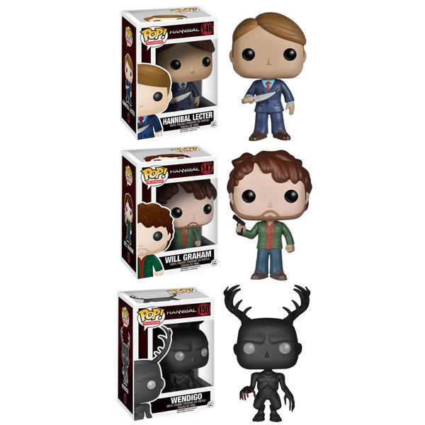 Funko Hannibal Pop TV Vinyl Collectors Set with Hannibal Lecter/ Will Graham/ Wendigo