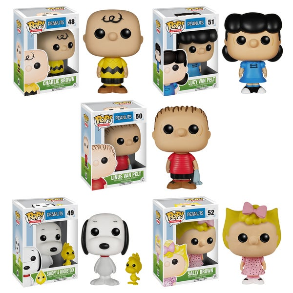 Funko Peanuts Pop TV Vinyl Collectors Set with Charlie Brown/ Lucy Van Pelt/ Sally Brown/ Linus Van Pelt/ Snoopy and Woodstock
