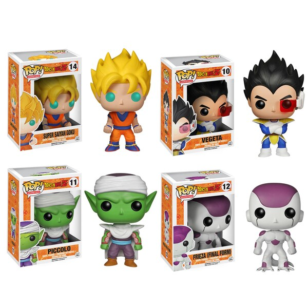 Funko Dragonball Z Pop Anime Vinyl Collectors Set with Super Saiyan Goku/ Vegeta/ Piccolo/ Final Form Frieza