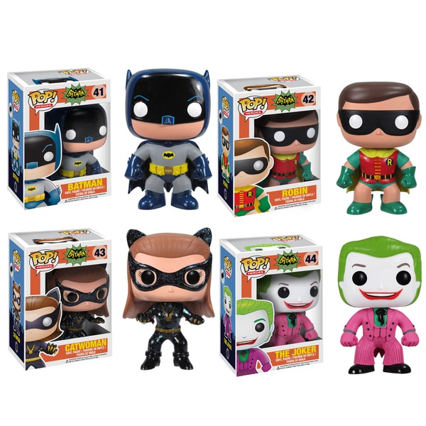 Funko Batman 1966 Pop Heroes Vinyl Collectors Set with Batman/ Robin/ Cat Woman/ Joker