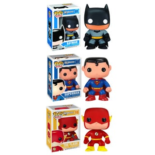 Funko DC Universe Pop Heroes Vinyl Collectors Set with Batman/ Superman/ Flash