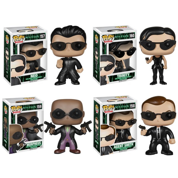 Funko The Matrix Pop Movies Vinyl Collectors Set with Neo/ Trinity/ Morpheus and Agent Smith