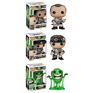 Funko Ghostbusters Pop Movies Vinyl Collectors Set with Dr. Peter Venkman/ Dr. Raymond Stantz/ Slimer