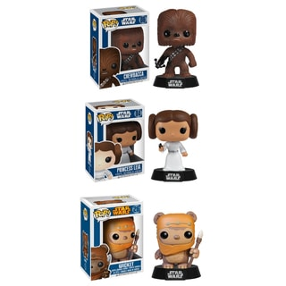 Funko Star Wars Pop Vinyl Collectors Set with Chewbacca/ Princess Leia/ Wicket