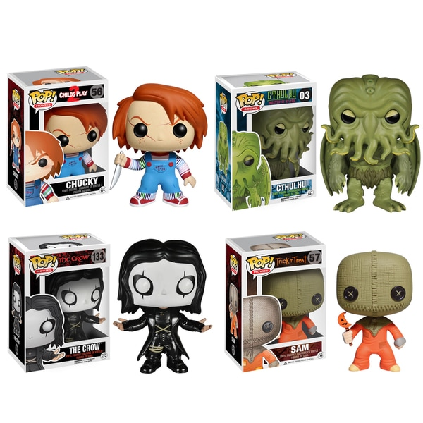 Funko Horror Classics Pop Movies Vinyl Collectors Set with Chucky/ Cthulhu/ The Crow/ Sam