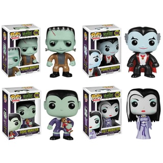 Funko Munster Pop TV Vinyl Collectors Set with Herman/ Lily/ Grandpa/ Eddie