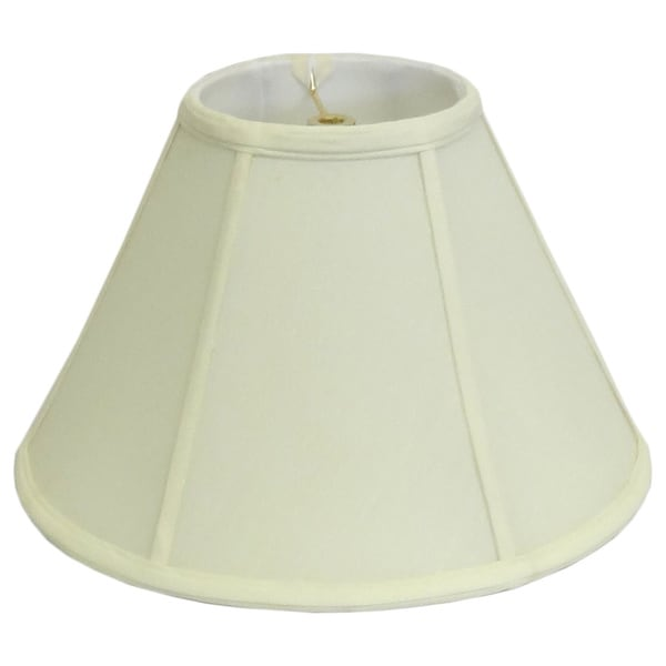 Round Off White Empire Silk Lamp Shade
