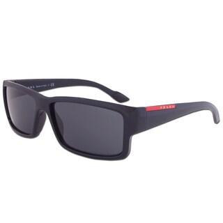 Prada Sport SPS 05O 1AB-1A1 Linea Rossa Sunglasses in Black