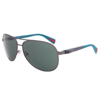 Prada Sport SPS 51O DG1-3O1 Aviator Sunglasses in Gunmetal Aqua