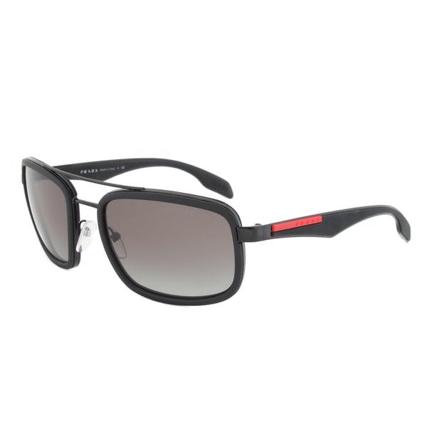 Prada Sport SPS 52P 1BO-3M1 Rectangular Sunglasses in Black