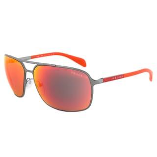 Prada Sport SPS 54O 5AV-6Y1 Sunglasses in Gunmetal Orange