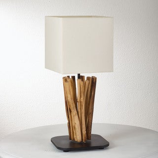 "Driftwood Table Lamp - 8""Wx8""Lx21""H"