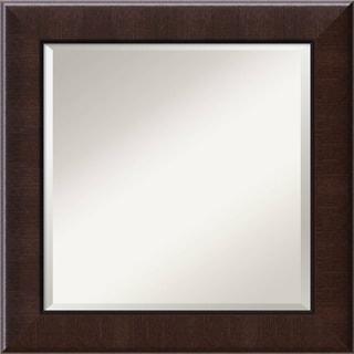 Dark Umber Wall Mirror - Square 26 x 26-inch