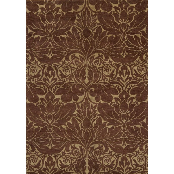 Arabesque Hand-Tufted Wool Rug (8'x11')