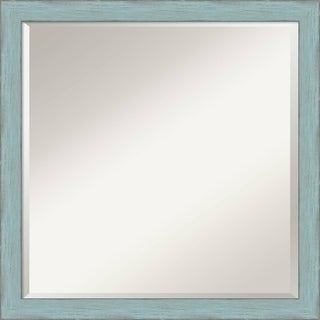 Sky Blue Rustic Wall Mirror - Square 22 x 22-inch