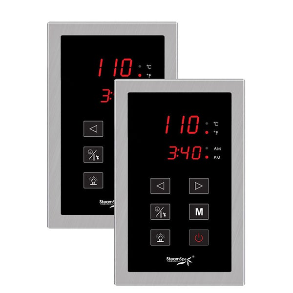 Dual Touch Panel Control System in Brushed Nickel
