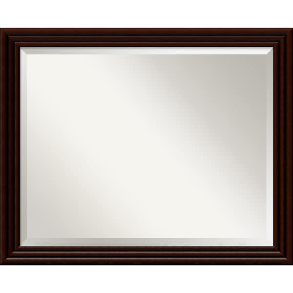 Chocolate Walnut Wall Mirror - Large 32 x 26-inch