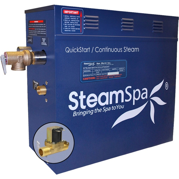 SteamSpa 6 KW QuickStart Steam Bath Generator with Built-in Auto Drain