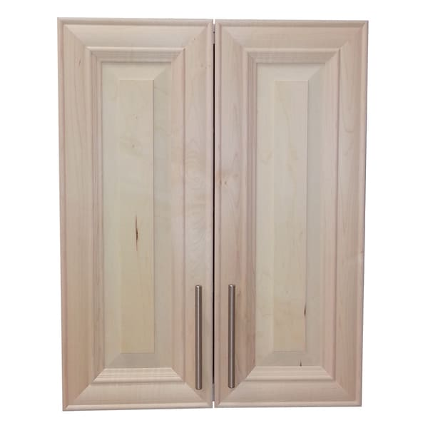 Overton 27-inch High 2-door 5.5-inch On The Wall Frameless Medicine Cabinet